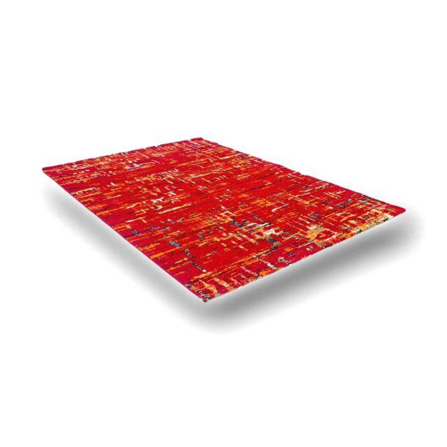 Flora Carpets Tapis de Couloir Moderne et multicoloree 80X150 - Rouge/ROUGE - 3364A