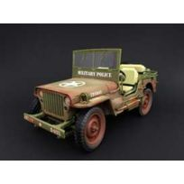 Triple 9 - Jeep Willys Military Army Police Dirty Version - 1944 - 1/18 - T9-1800142B