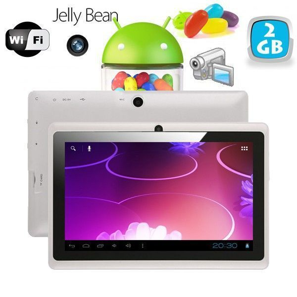 Yonis Tablette tactile Android 4.1 Jelly Bean 7 pouces capacitif 3D Blanc