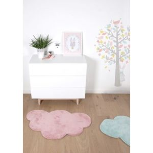 Lilipinso - Tapis Nuage Vieux Rose chambre bébé Fille par - Couleur ...