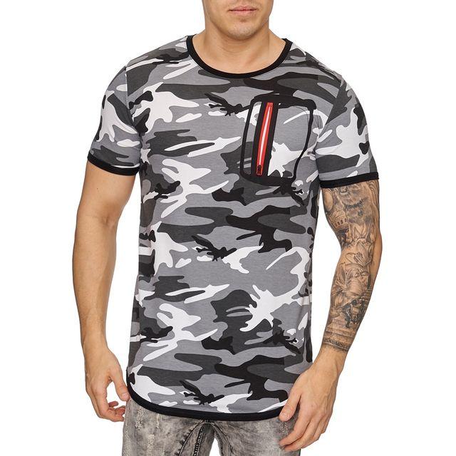 marque generique t shirt fashion camouflage homme t. Black Bedroom Furniture Sets. Home Design Ideas