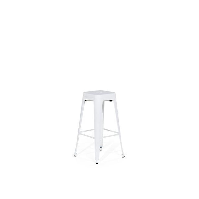 BELIANI Chaise de bar design blanche CABRILLO - blanc