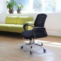 Tapis de chaise de bureau à la maison de tapis de chaise de protection de Pvc de 17 × 24 pouces Clair