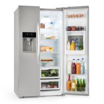 KLARSTEIN - Grand Host XXL Combiné type réfrigérateur américain & congélateur - Capacité totale de 550 litres - Classe énergétique A+ - Design argenté