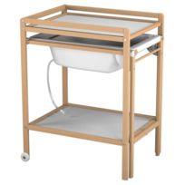 Ateliers T4 - Table à langer à Roulettes avec Baignoire - Vernis