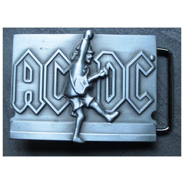 Universel - boucle de ceinture Ac DC et guitare alu hard rock roll ... b7189e55218