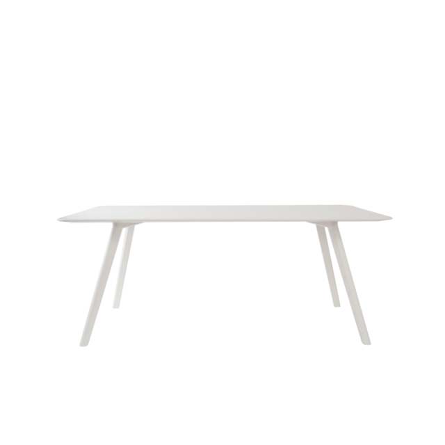 Objekte Unserer Tage Table Meyer rectangulaire - 160 cm - frêne/ blanc