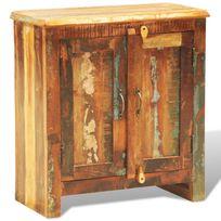 Vimeu-Outillage - Cabinet vintage Multicolore 2 portes