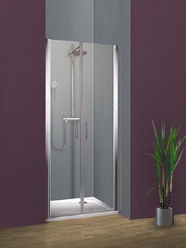 Portes de douche battantes en niche, 80x190 cm