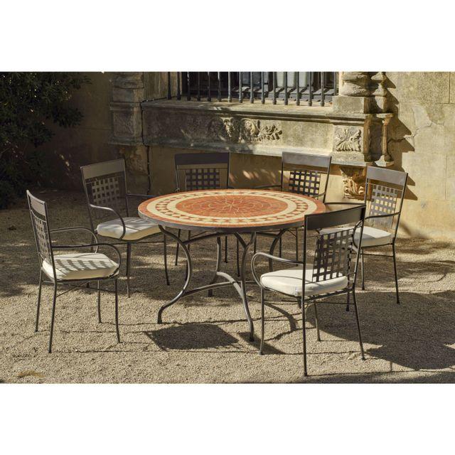 HEVEA JARDIN - Ensemble tables et chaises Set lorny/vigo Acier et ...