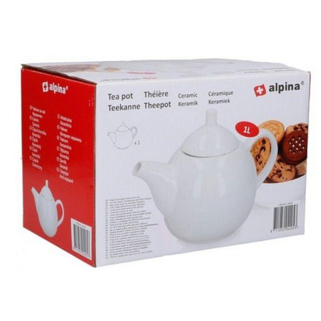 MAISON FUTEE Théière en céramique blanche 1 litre