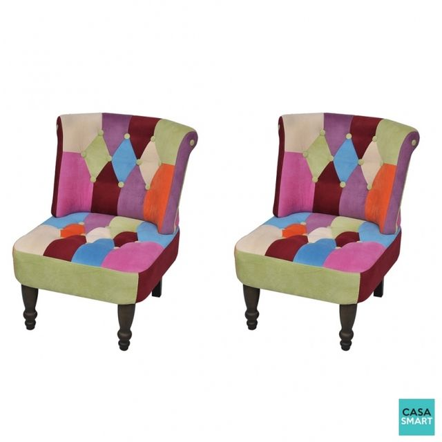 Casasmart Lot de 2 fauteuils Jenner multicolore