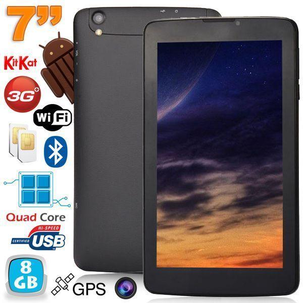 Yonis Tablette 3G 7 pouces Android 4.4 KitKat Double Sim débloqué 8Go Noir