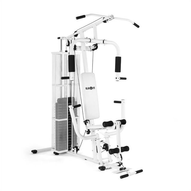 KLARFIT - Ultimate Gym 3000 Station de Fitness multifonctions -blanche