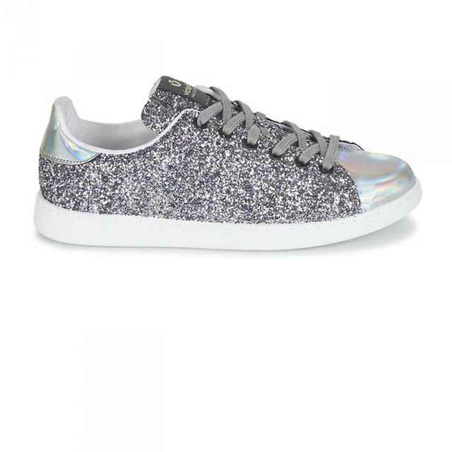 948ad6a78 Chaussures Deportivo Basket Glitter Plata
