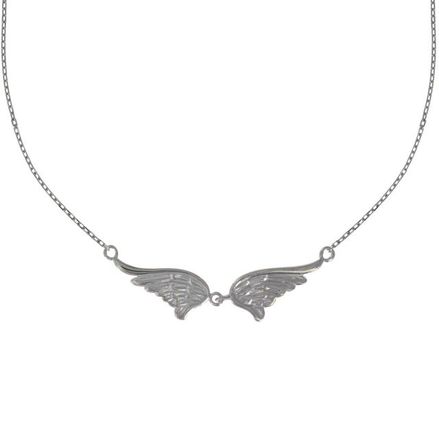 collier argent ange