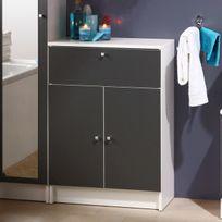 Marque Generique - Élément de salle de bain équipé de 2 portes + tiroir + rayon