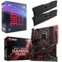 KIT EVO - Core i7-9700K + Carte mère Z390 MPG GAMING PLUS - ATX + RAM PC Vengeance LPX 2 x 8 Go DDR4 3200 MHz CAS 16