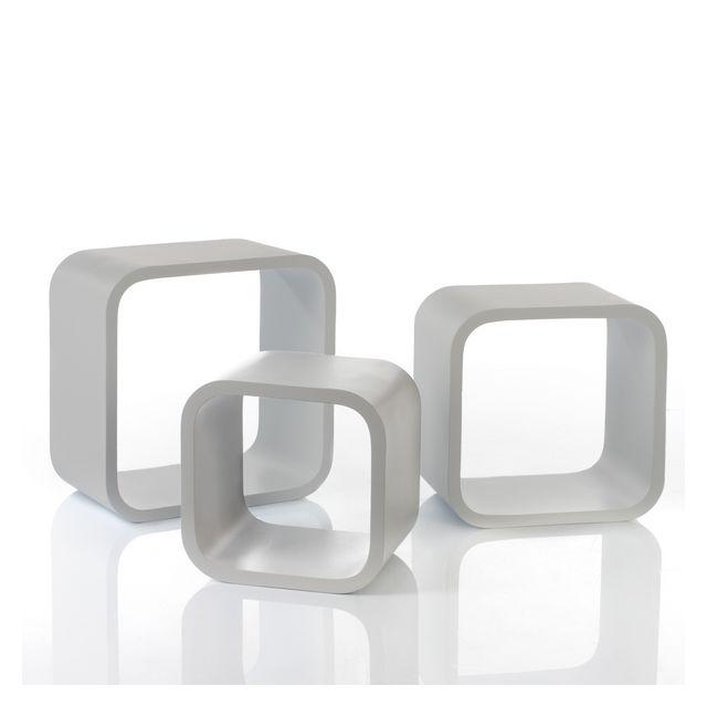 Maison Futée Cubes de rangement déco blanc à poser au sol