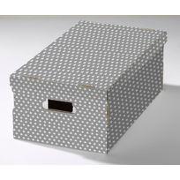 COMPACTOR - Lot de 2 boites de rangement - Gris et étoiles -RAN7054