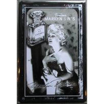 Universel - Plaque marilyn monroe et parfum numero 5 30x20 cm deco affiche pin up pub loft