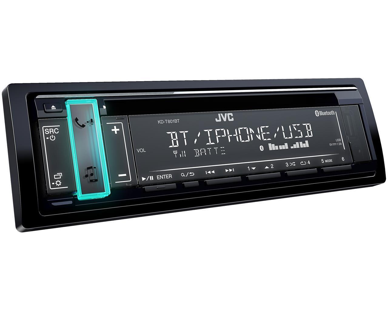 JVC Autoradio Bluetooth 1 Din - KD-T801BT - Noir
