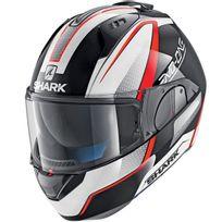 Shark - casque intégral modulable en jet Evo-one Astor Kwr moto scooter gris blanc rouge M