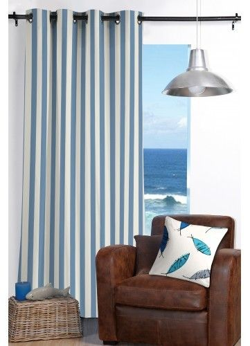 homemaison rideau ray esprit bord de mer pas cher achat vente rideaux rueducommerce. Black Bedroom Furniture Sets. Home Design Ideas