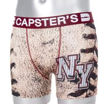 Capster'S Official - Boxer Homme Microfibre Nyc Beige