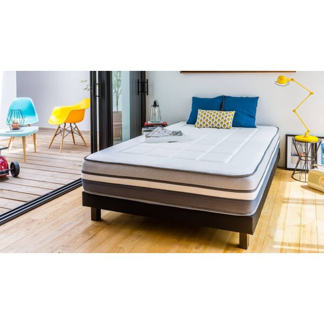 hbedding ensemble matelas m moire 180x200 2 sommiers. Black Bedroom Furniture Sets. Home Design Ideas
