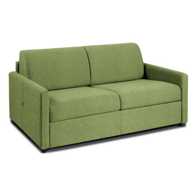 inside 75 canap convertible nice matelas m mory 20cm rapido lattes 120cm microfibre vert. Black Bedroom Furniture Sets. Home Design Ideas
