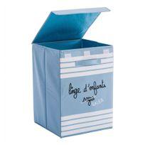 Jja - Bac à linge pour enfant pliable bleu