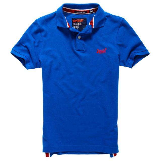7e7d6a488f1f Superdry Mc Xxl Pique New Taille Homme Polo Fit Bleu Classic rpwfZxaFqr