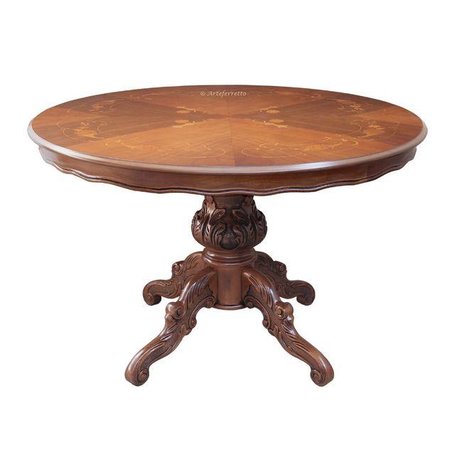 Artigiani Veneti Riuniti Table ronde marquetée 120 cm diamètre