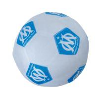 Olympique Marseillais - coussin ballon blanc Om 100% Polyester - diam 19 cm