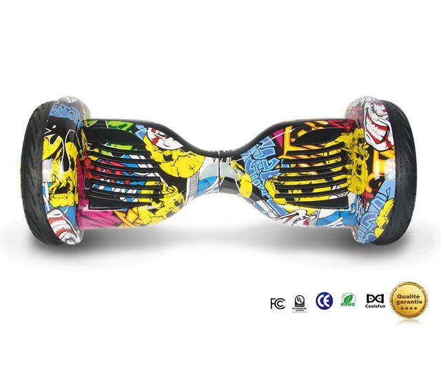 COOL AND FUN - Cool&FUN Hoverboard Bluetooth Tout terrain, gyropode 10 pouces modèle Horseboard hip-hop design