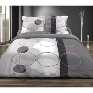 marque generique couette imprim e 220x240 cm cercles doodles pas cher achat vente couettes. Black Bedroom Furniture Sets. Home Design Ideas