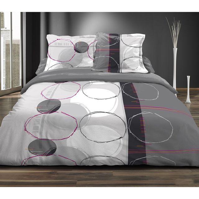 marque generique couette imprim e 220x240 cm cercles doodles pas cher achat vente couettes. Black Bedroom Furniture Sets. Home Design Ideas