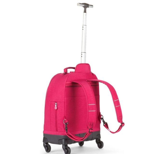 Kipling Sac à dos à roulettes Echo Cherry Pink Mix 49 Cm