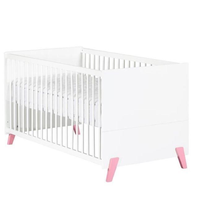 LIT BEBE Babyprice - JOY ROSE - Lit Evolutif Little Big Bed 140x70