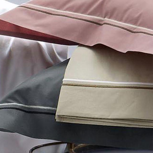 linnea drap plat 180x290 cm uni percale pur coton hotel de paris lin multicolore nc pas. Black Bedroom Furniture Sets. Home Design Ideas
