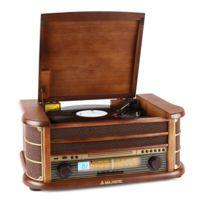 MAJESTIC - Audiola TT34 Chaîne stéréo rétro vinyle CD USB MP3