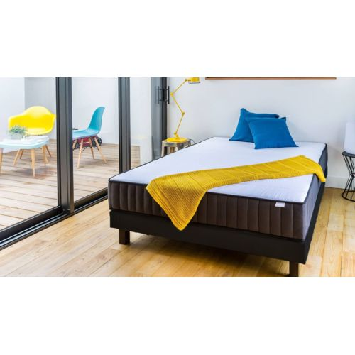 hbedding ensemble matelas m moire sommier 90x190 memo. Black Bedroom Furniture Sets. Home Design Ideas