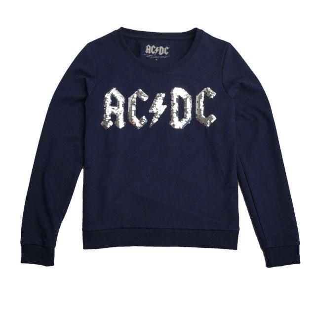 AC/DC Sweat Femme Acdc Bleu