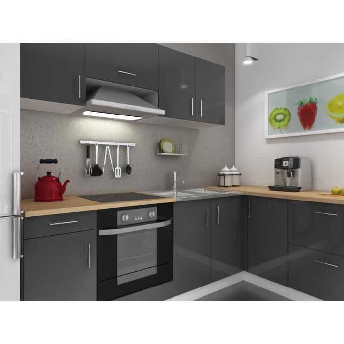 usines discount cuisine complete 280 cm laqu gris cosy pas cher achat vente meubles de. Black Bedroom Furniture Sets. Home Design Ideas