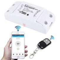 Wewoo - Prise Connectée pour Smart Home, support iOS et Android 433MHz bricolage WiFi Smart télécommande sans fil Minuterie Module Power Switch avec 4 touches