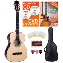 Classic Cantabile - Acoustic Series As-851-L guitare de concert 3/4 pour gauchers Starter-SET