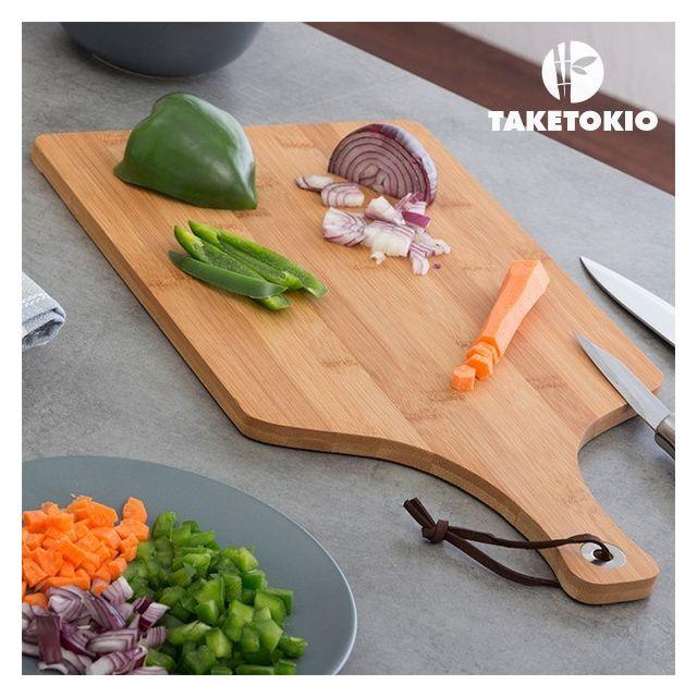Totalcadeau Planche à Découper en bambou 25 x 1 x 45 cm - Accessoire cuisine