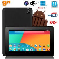 Yonis - Tablette tactile 9 pouces Android 4.4 Bluetooth Quad Core 16Go Noir