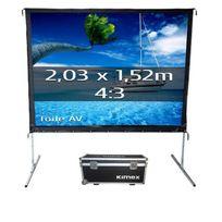 Kimex - Ecran de projection valise 2,03 x 1,52m, format 4:3, Toile Avant